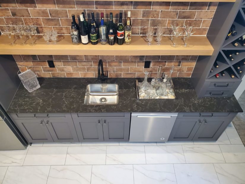 a picture of a granite countertop in calgary canada.